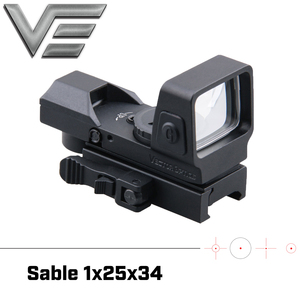 Image 1 - Vector Optics Sable 1x25x34 Tactical Multi Reticle Green Red Dot Sight with QD 20mm Weaver Mount For Dear Shooting Hunting
