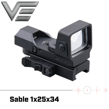 Vector Optics Sable 1x25x34 Tactical Multi Reticle Green Red Dot Sight with QD 20mm Weaver Mount For Dear Shooting Hunting