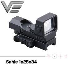 Vector Optics mira telescópica táctica Sable 1x25x34, Multi retícula, punto verde y rojo, con QD, 20mm, montaje Weaver para caza Dear Shooting