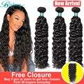 Onda de água pacotes cabelo brasileiro onda de água tecer pacotes 1 pacote de cabelo encaracolado 8 24 26 polegada pacote cabelo natural extensões do cabelo