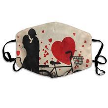 Increíble máscara reutilizable Anti polvo cara boca cubierta Vintage rojo corazón máscara para ciclismo caliente a prueba de viento