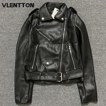 High Quality Spring Autumn Purple Black Sashes PU Faux Leather Jacket Coat Women Zipper Biker Jackets Outwear Female Casual Tops