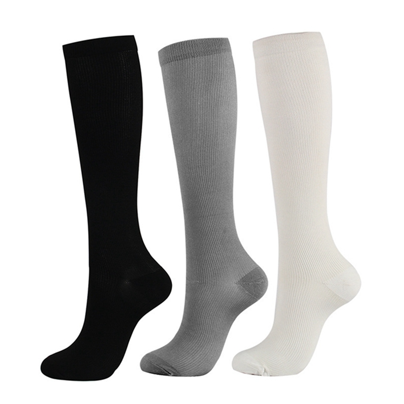 Antifatigue Unisex Compression Socks Flight Travel Anti-fatigue Knee High Stockings Anti Fatigue Magic Sock High Compression