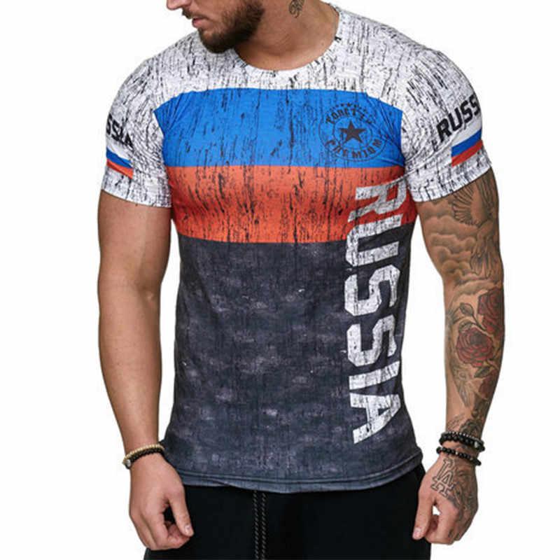 3D druck Spanisch flag shirt männer t shirt lässig sport kurzen ärmeln schlank sommer hemd T Oansatz t-shirt fußball tops
