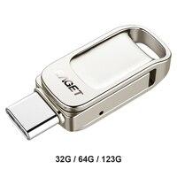 Eaget OTG USB Flash Drive tipo C Pendrive 128GB 64GB 32GB Mini USB 3.1 Pen Drive per telefono type-c Tablet Laptop Macbook Computer