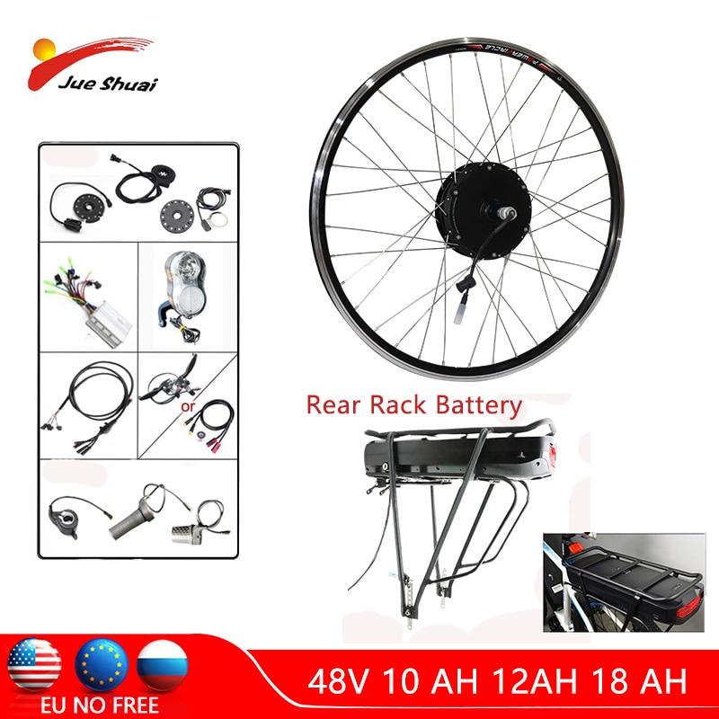48 V 500 W Electric bike Conversion kit mit Batterie 48 V 12 AH 24''26''700 C Rad Nabe Bürstenlosen Motor kit bicicleta electrica