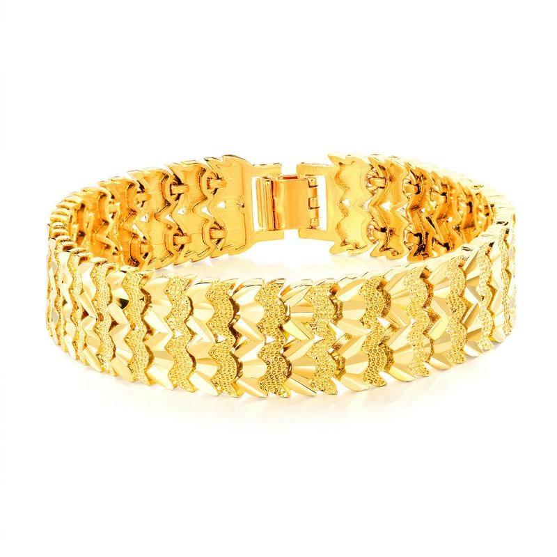 Luxury Gold Color Bracelet Wristband Men Jewelry Bracelets Bangles Gift For Him High Quality Titanium Steel