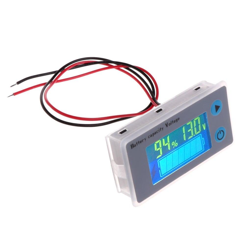 Battery Capacity Indicator Voltage Monitor 10 100V Universal Battery Capacity Voltmeter Tester LCD Car Lead acid Indicator