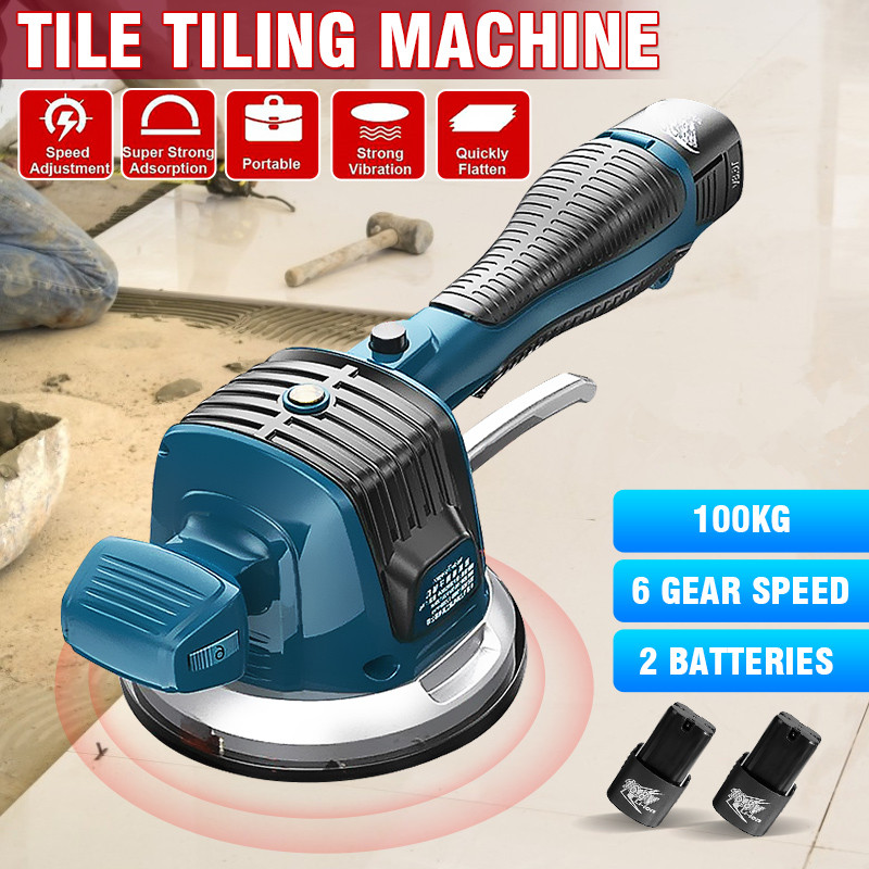 Tiles Tiling Machine Tile Vibrator for 120cm Tiles 100KG Suction Automatic Wall Tile Laying Leveling Tool Floor Plaster Machine