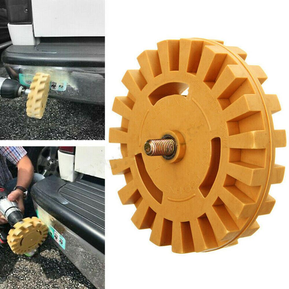 1pcs Pneumatic Wheels Rubber Grinding Tire Polishing Wheel Tool Degumming гриндер For Car Stickers And Decals