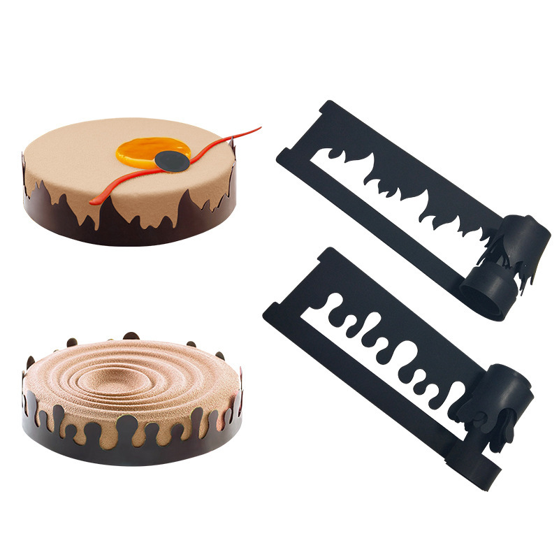 DIY Cake Mold Flame Water Drop Shaped Silicone Mold Bubble Leaf Chocolate Mould Lace Sugar Craft Fondant Cake Decorating Tools