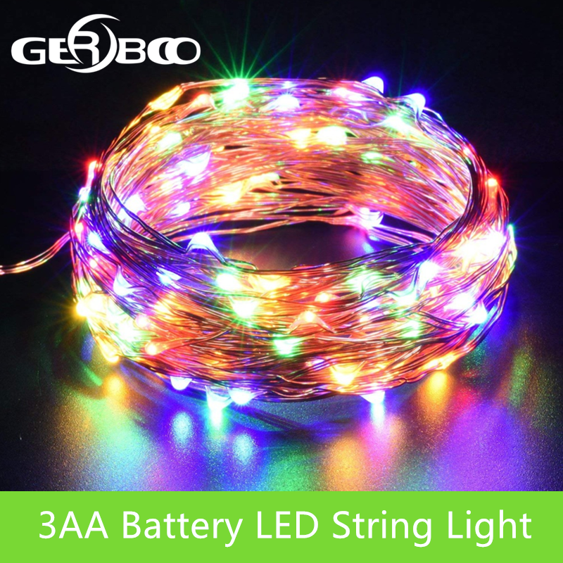 3M 5M 10M Outdoor LED String Lights Holiday New Year Fairy Garland For Christmas Tree Wedding Party Decoration