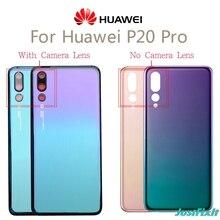 Voor Huawei P20 Pro Back Glas Batterij Cover Achterdeur Behuizing Case Panel Voor Huawei P20 Pro Terug Glas Cover met Camera Lens