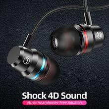ANMONE auricolari cablati cuffie 3.5mm In Ear auricolare Sport auricolare con microfono Bass cuffie Stereo per iphone 7 11 pro xiaomi