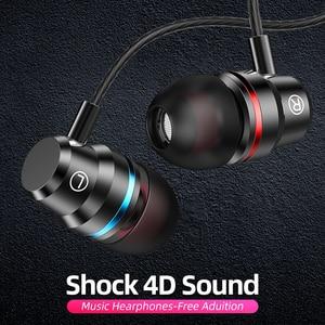 Image 1 - ANMONE auriculares intrauditivos con cable, dispositivo deportivo de 3,5mm con micrófono y estéreo de graves para iphone 7, 11 pro y xiaomi