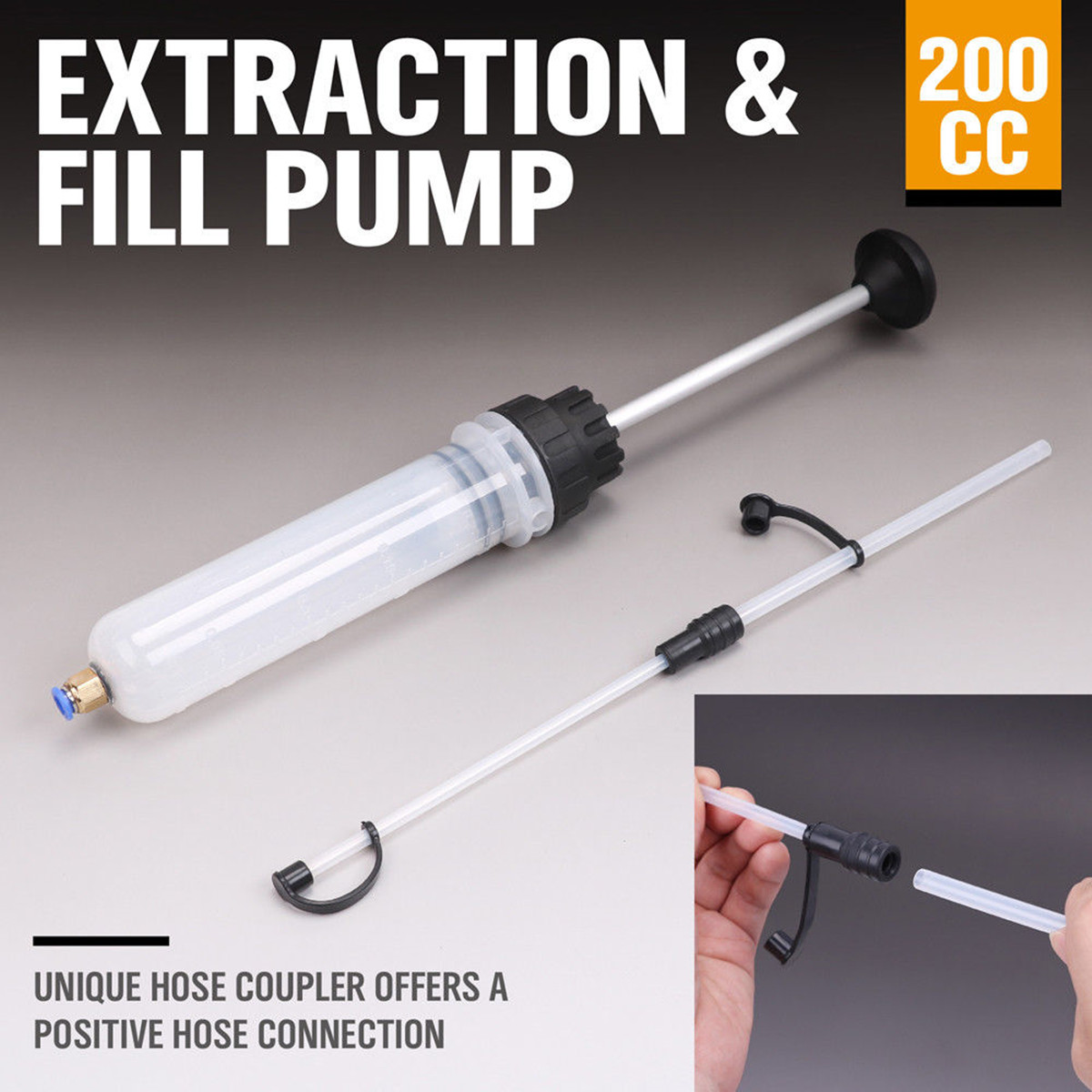 NEW 200cc Oil Fluid Extractor & Filling Syringe Bottle Transfer Hand Pump Automotive Fluid Extraction Car Fuel Pump Car Styling