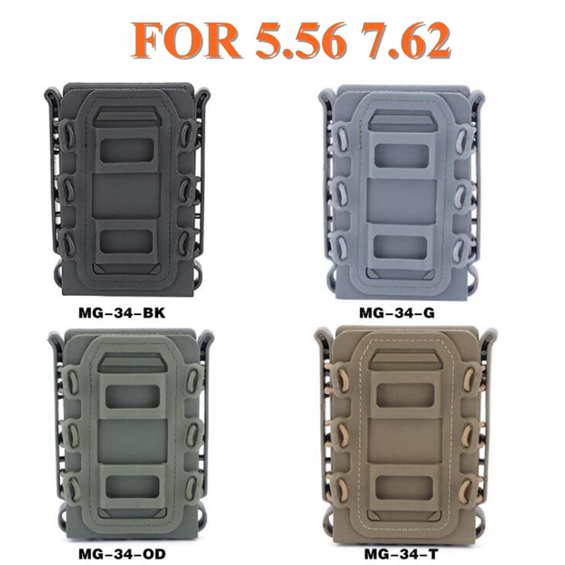New 5.56mm 7.62mm Fast Mag Pouch Tactical Magazine Pouch Holster Molle Belt Fast Attach Carrier Holster 5.56 7.62 Pouch