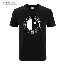 SK Slavia Praha T Shirt Czech Republic Prague Print T shirt Men's T Shirt Quality Cotton T-Shirt For Men Plus Size XS-3XL scooter praha