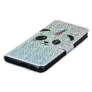 Image 4 - ラグジュアリーブリンブリン財布フリップ Pu レザーケース Xiaomi Redmi 7A K20 K20 プロユニコーン柄保護電話バッグカバー coque ギフト
