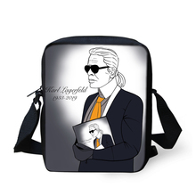 HaoYun Fashion Womens Messenger Bags Karl Lagerfelds Pattern Girls Cross Body Cartoon Designer Mini Flaps Purses