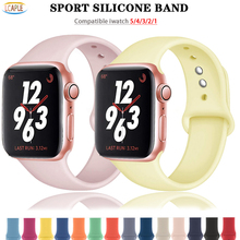 Silicone Strap For Apple Watch band 44mm 40mm 38mm 42mm wrist watchband Sport belt bracelet correa iWatch series 6 5 4 3 SE band