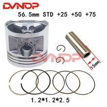 56.5mm Piston Assembly Kit for Honda CG125 CB125 XL125 CT125 SL125 TL125 CL125 Lifan Zongshen 125 Engine K082-025