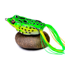 TopWater Frog Fishing Lure 4.3/5.3/6/6.5cm 5/8.5/13/17.5G Soft Silicone Bait Wobblers Artificial Bait Fishing Tackle Ray Frog