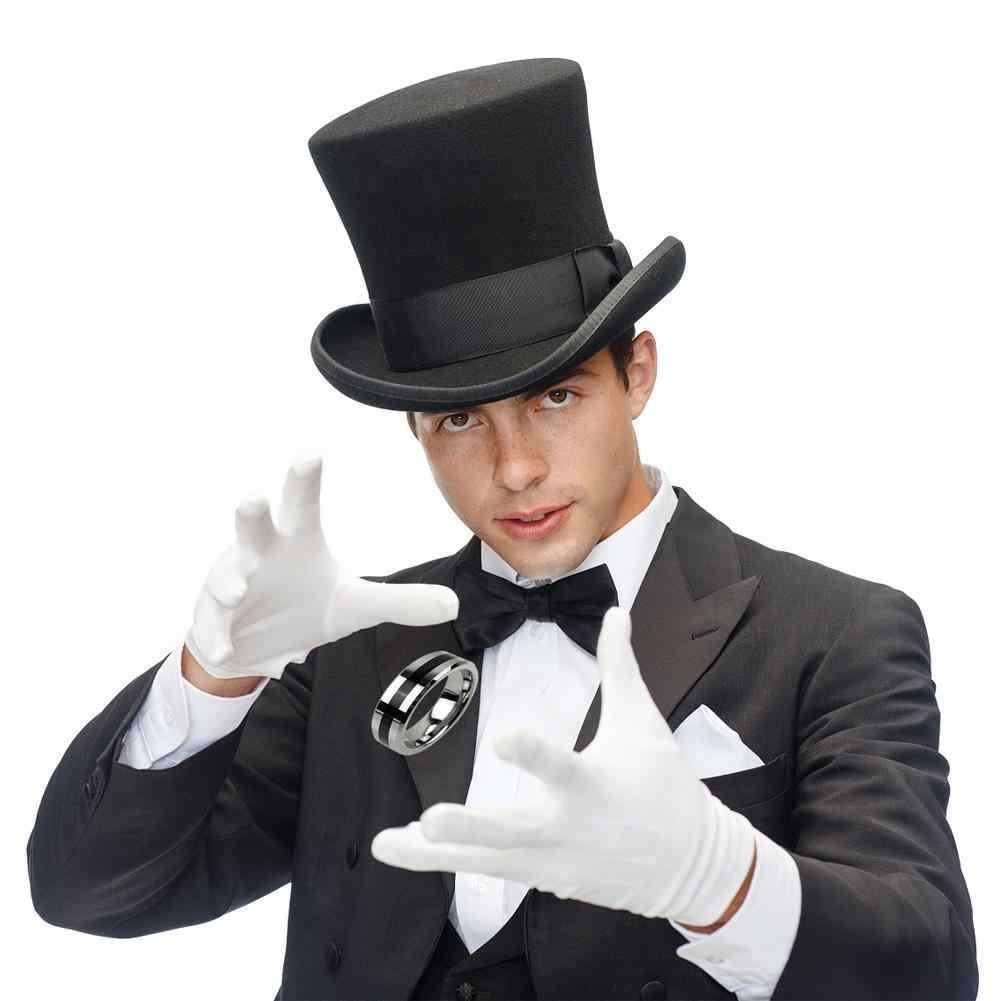 マジックショー手品フローティングリングマジックフライングカードフローティングコインエフェクト見えないサスペンション魔法の小道具親指リング