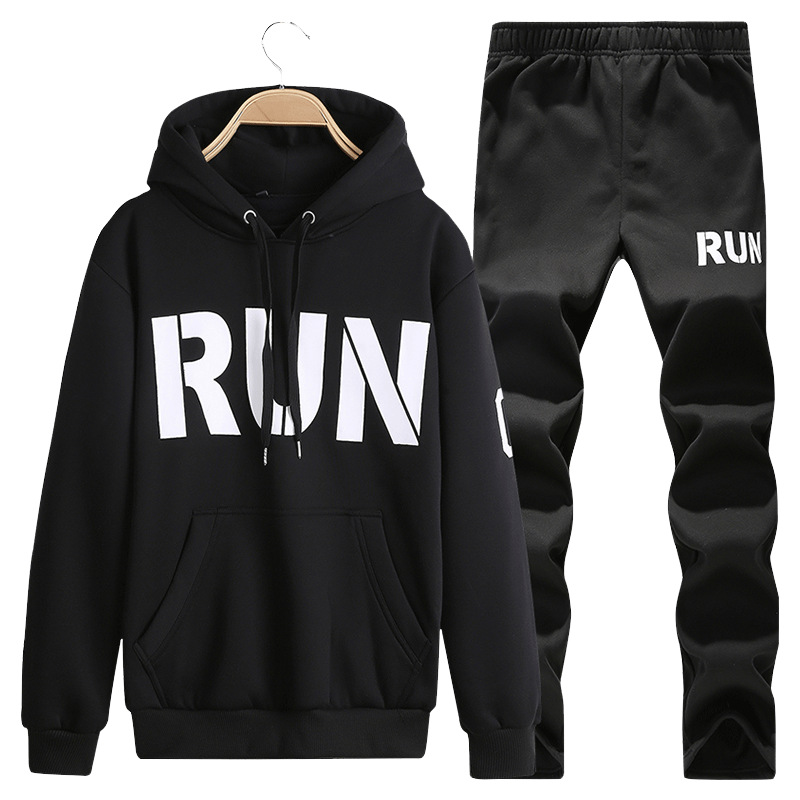 2019 New Style Men Leisure Set Spring And Autumn Hoodie Sweatpants Sports-Style Two-Piece Set Men'S Wear