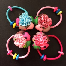 1 Pcs/lot Hair Accessories For Girl & Women Ribbon Rose Rope Super Elastic Headbands Scrunchie Floral Printed Ponytail