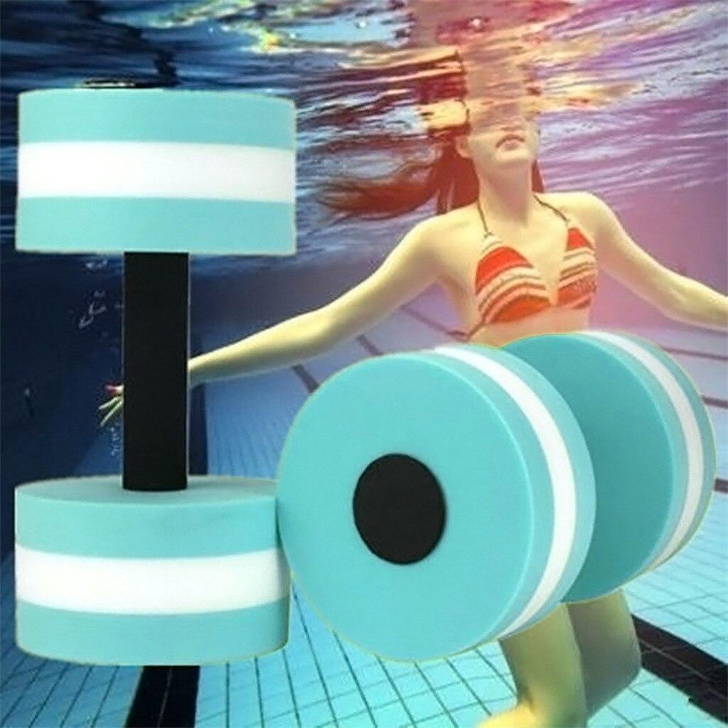 #H40 1 Pair Aqua Fitness Barbells Foam Dumbbells Hand Bars Pool Resistance Exercise Fitness Equipments Dumbbells Body Building