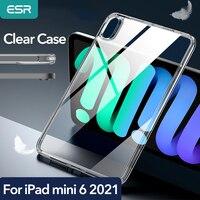 ESR-funda transparente para iPad mini 6, carcasa protectora de cristal de Parte posterior transparente para iPad mini 6. ª generación 2021