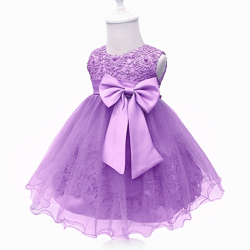 Korean-style Baby Married Child Formal Dress Girls A Year Of Age BABY'S FIRST Month Wine Formal Dress Wedding Dress Infant BABY'