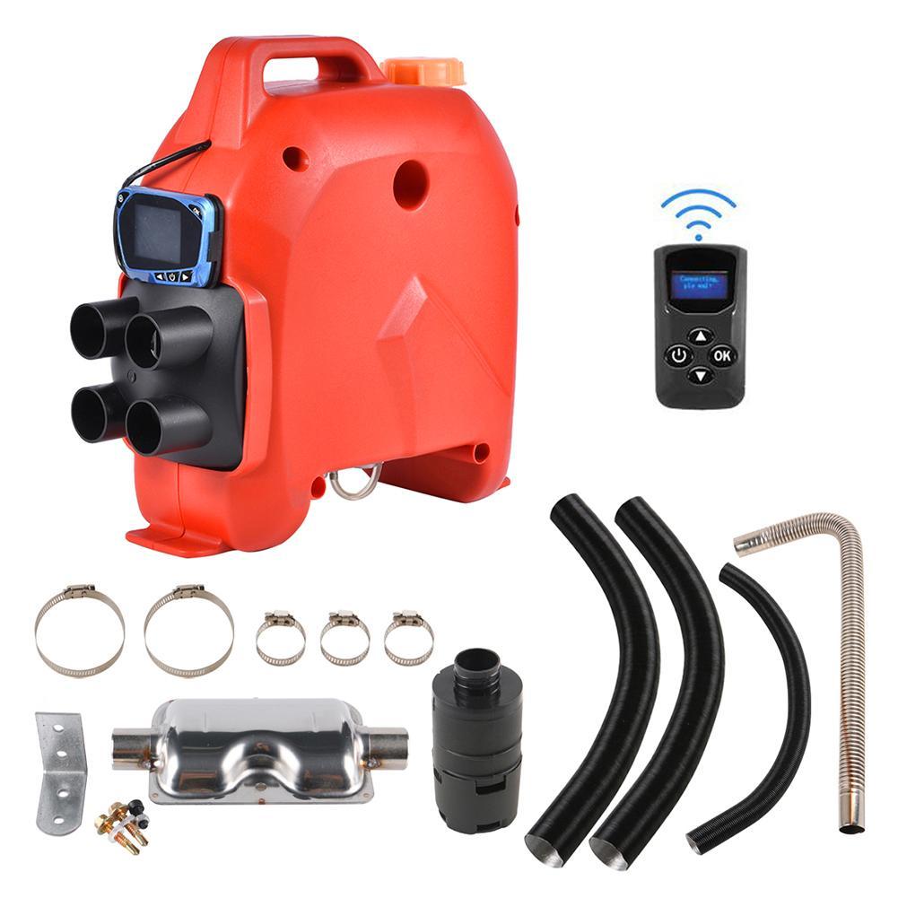 Calefator de estacionamento do carro com monitor do lcd 12 v/24 v 5kw calefator do ar universal para veículos de carga barcos caminhões carro do acampamento - 4