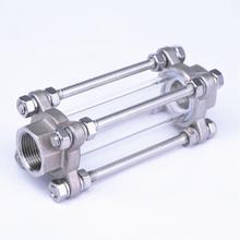 """1/2 """"3/4"""" 1 """"2"""" BSPT Dişi Akış Gözetleme Camı Göstergesi Diopter 85 PSI 304 Paslanmaz Çelik su Yağ"""