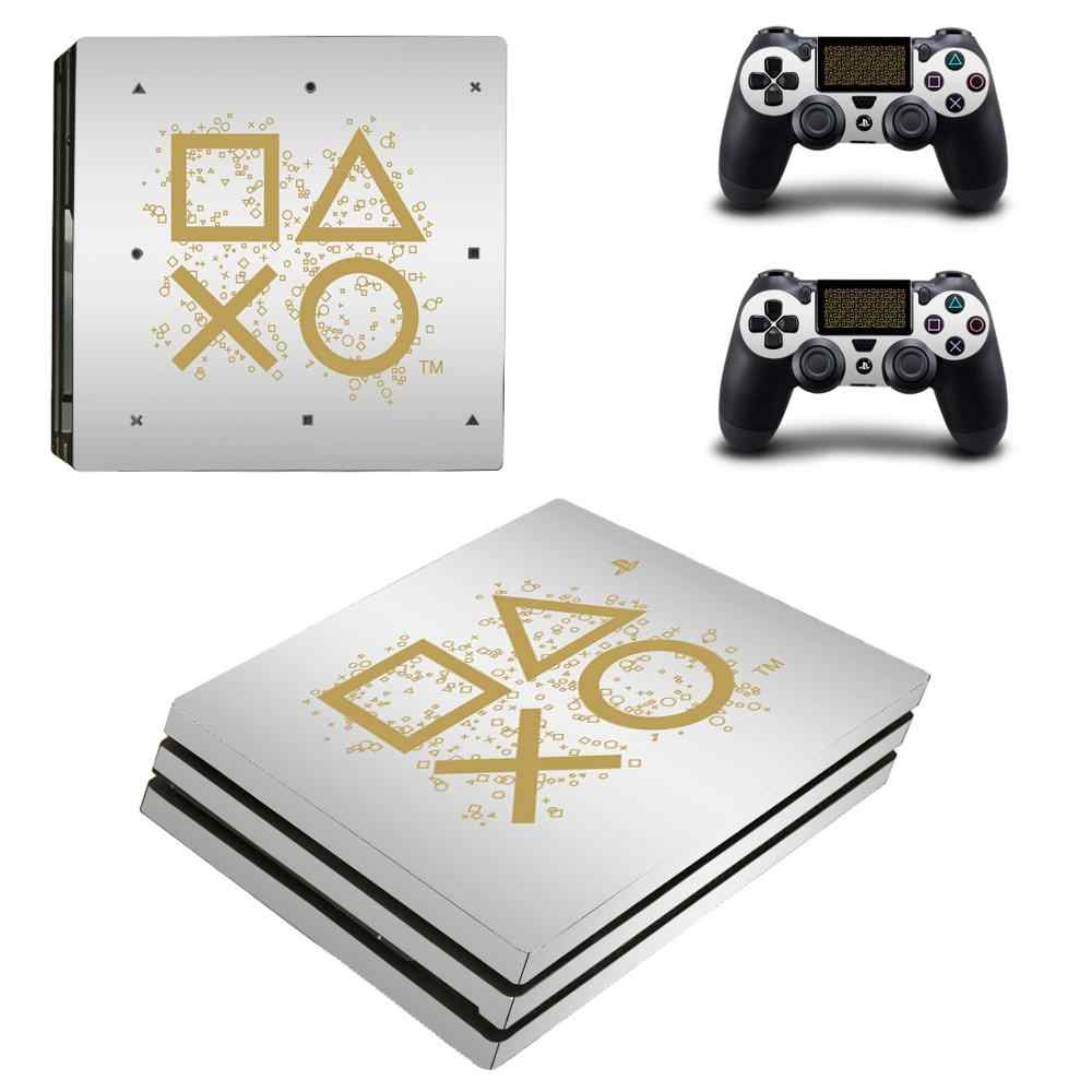 PS4 Pro Skin Sticker Decal Vinyl for Sony Playstation 4 Console and 2 Controllers PS4 Pro Skin Stickers