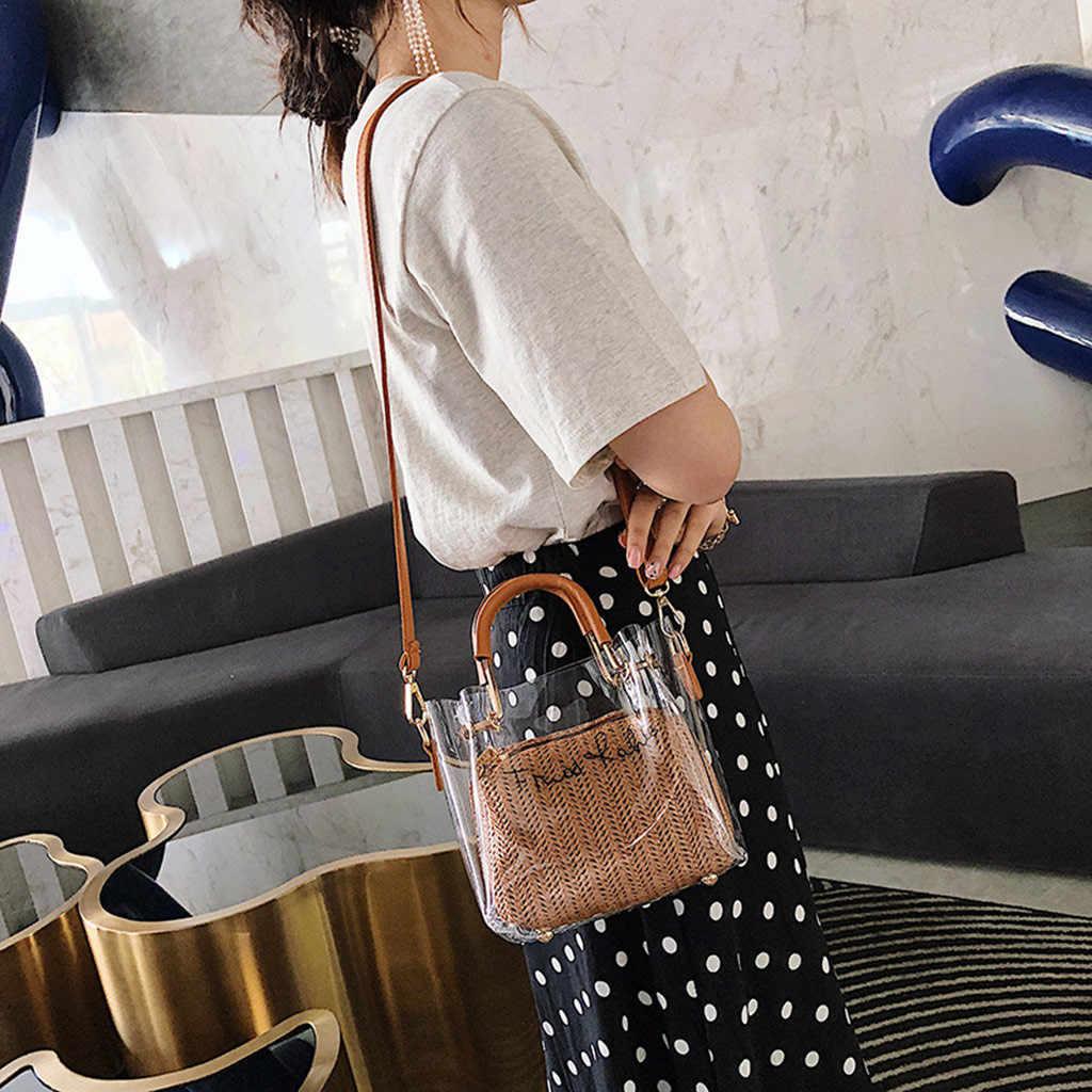 شفافة حقيبة من الجيلاتين للنساء 2019 بو الجلود PVC حقيبة كتف صغيرة سلسلة حقائب سيدات الإناث البسيطة الحقيبة Teenahge Rirls