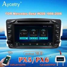 PX6 4G רכב רדיו 2 דין אנדרואיד 10 מולטימדיה DVD נגן autoradio אודיו GPS עבור מרצדס בנץ CLK W209 w203 W463 W639 ויאנה ויטו