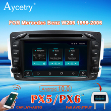 PX6 4G araba radyo 2 din Android 10 multimedya DVD OYNATICI autoradio sesli GPS Mercedes Benz CLK W209 W203 W463 w639 Viano Vito