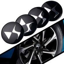 4 pçs 56mm ds logotipo do carro emblema roda centro hub tampa aro emblema decoração tampas adesivo para ds espírito ds3 ds4 ds5 ds5ls ds6 ds7