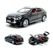 Audi Q8, à forte simulation 1:32, avec lumière sonore, en alliage, modèle de voiture, jouets pour enfants, cadeaux, livraison gratuite
