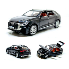 high simulation 1:32 Audi Q8 with sound light pull back alloy toy car model toys for children gifts free shipping
