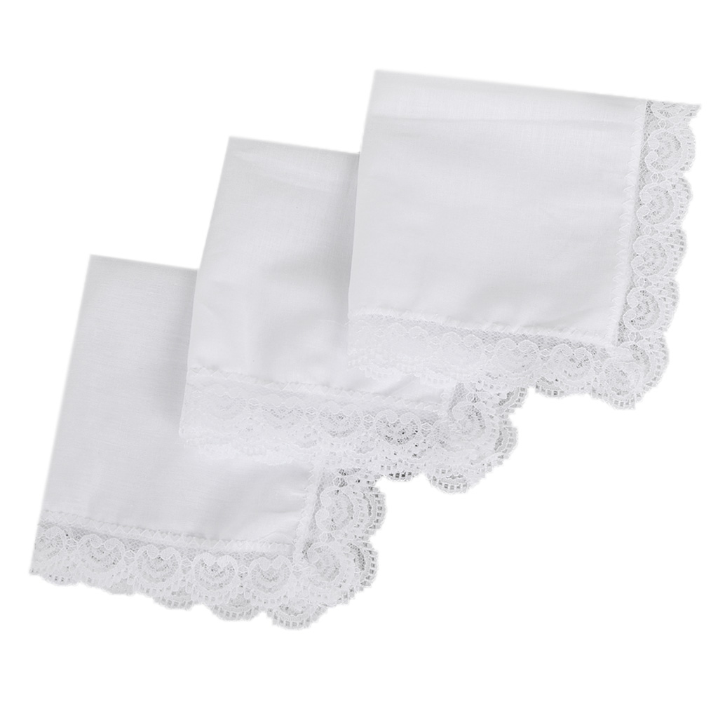 2020 New Cotton Lace Side Small Square Towel DIY Handmade White Handkerchiefs Hotel Tableware Decoration
