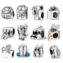 Beads Charms New-Arrival Bracelet Fine-Jewelry Animals Diy 925-Silver for Happy-Messenger-Series