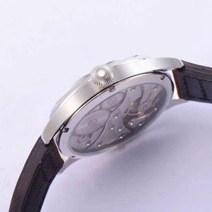 Image 5 - 44 millimetri CORGEUT quadrante nero 6497 Mano Meccanico A Carica Automatica orologi da uomo di Movimento del famoso marchio di lusso degli uomini di orologio