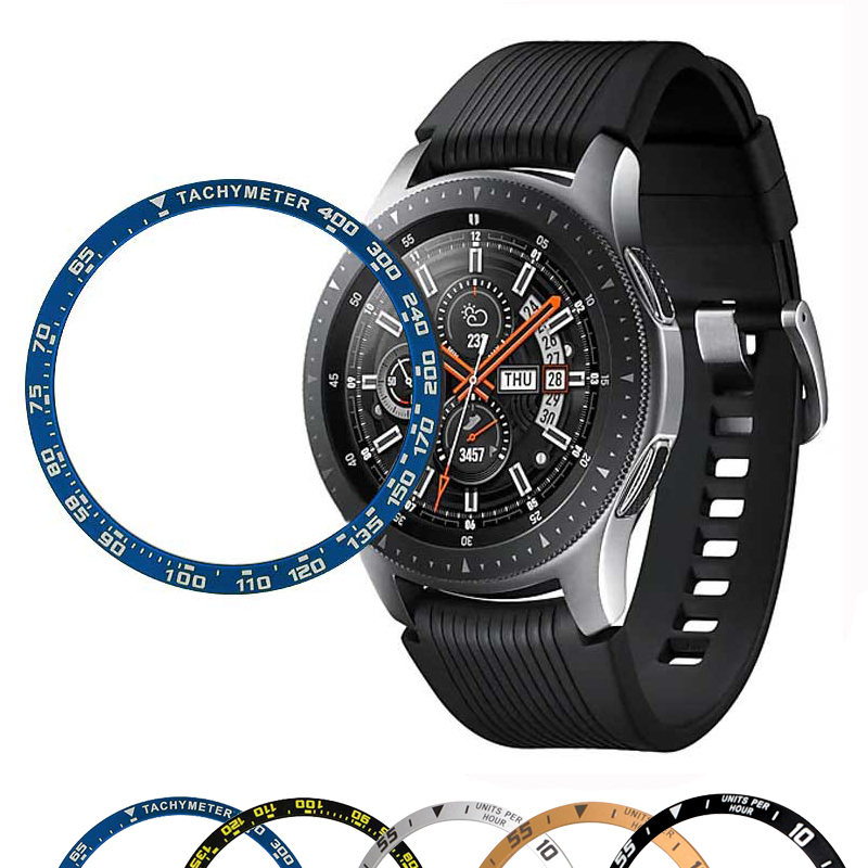 Gear S3 <font><b>Case</b></font> For Samsung Galaxy <font><b>Watch</b></font> 46mm <font><b>42mm</b></font> Alloy <font><b>Case</b></font> Ring Adhesive Cover Anti Scratch smart <font><b>watch</b></font> Accessories image