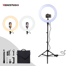 Get more info on the Yizhestudio 60W Led Ring Light Dimmable photography ring light with carry bag 320Pcs LED for photography Camera Light