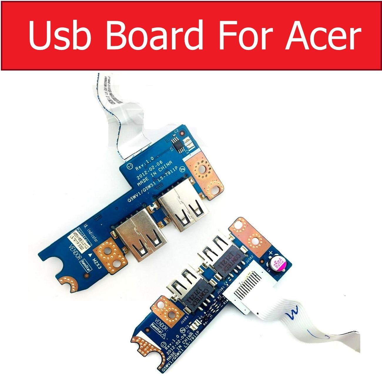 LS-7911P LS-8331P USB Board Socket For Acer Aspire V3-551G V3-571G V3-531G E1-521 E1-531 E1-571 5750 5750g P253-E Q5WV1 Q5WS1