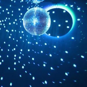 Image 5 - Thrisdar รีโมทคอนโทรล LED RGB Beam Pinspot แสงสะท้อนแสงกระจก Ball กับมอเตอร์ Party Wedding Disco Ball Light