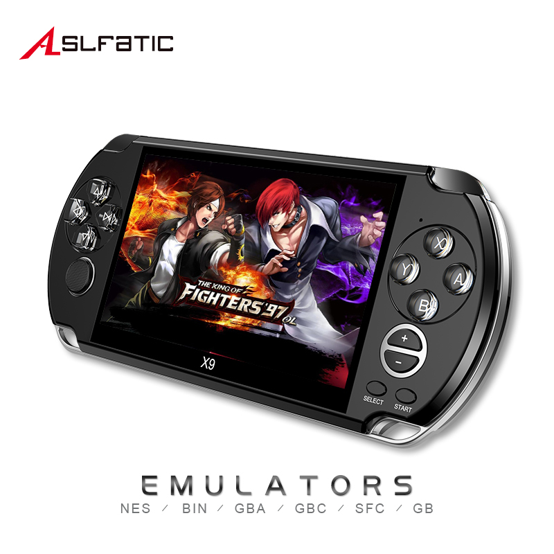 X9 Classic Retro Portable Handheld Game Player TV Video Games Console 8GB 5.0 Inch Screen For PSP Game, Camera,Video,MP4,MP5 image